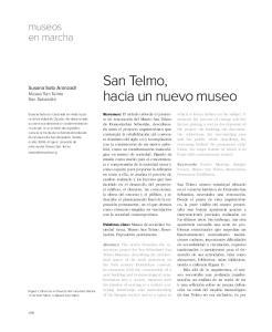 San Telmo, hacia un nuevo museo