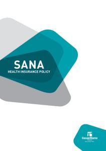 SANA HEALTH INSURANCE POLICY