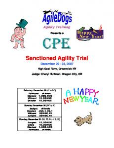 Sanctioned Agility Trial