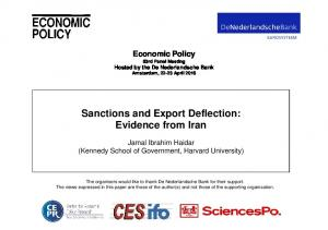Sanctions and Export Deflection: Evidence from Iran