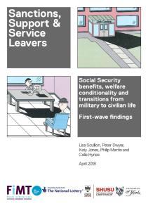 Sanctions, Support & Service Leavers