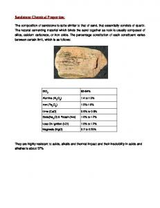 Sandstone Chemical Properties: