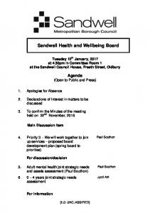Sandwell Health and Wellbeing Board