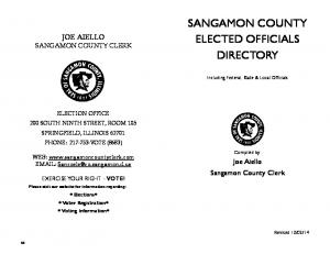 SANGAMON COUNTY ELECTED OFFICIALS DIRECTORY