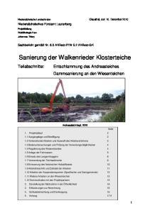 Sanierung der Walkenrieder Klosterteiche