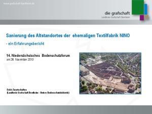 Sanierung des Altstandortes der ehemaligen Textilfabrik NINO