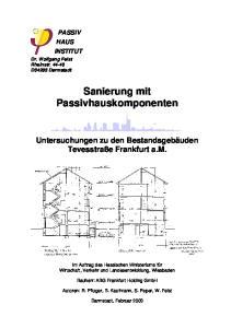Sanierung mit Passivhauskomponenten