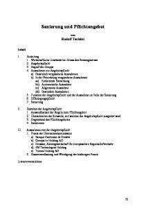 Sanierung und Pflichtangebot
