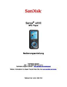Sansa e200 MP3-Player