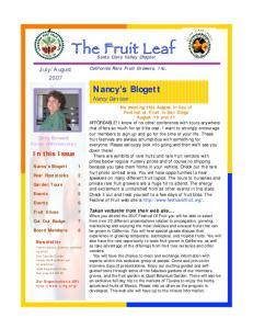 Santa Clara Valley Chapter California Rare Fruit Growers, Inc. Nancy s Blogett