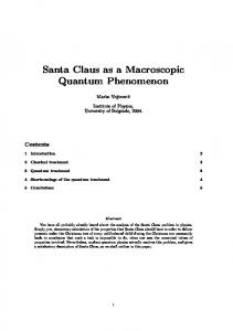 Santa Claus as a Macroscopic Quantum Phenomenon