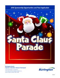 Santa Claus Parade. Santa Claus Parade