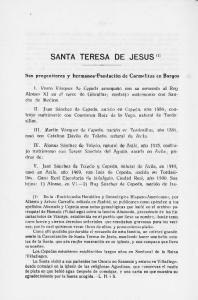 SANTA TERESA DE JESUS (