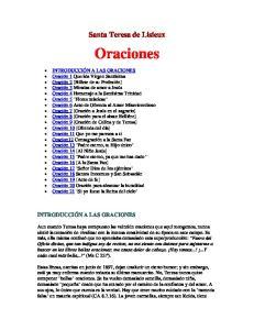 Santa Teresa de Lisieux. Oraciones