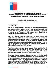 Santiago, 09 de noviembre de 2015