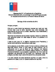 Santiago, 28 de noviembre de 2016