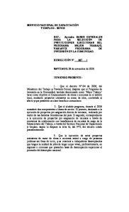 SANTIAGO, 28 de noviembre de TENIENDO PRESENTE: