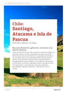 Santiago, Atacama e Isla de Pascua