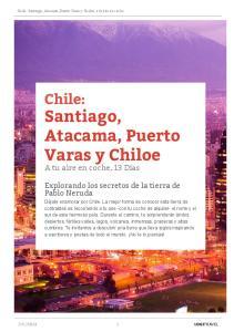 Santiago, Atacama, Puerto Varas y Chiloe