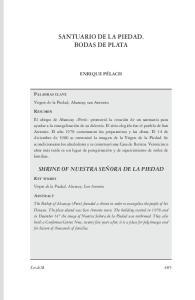 SANTUARIO DE LA PIEDAD. BODAS DE PLATA