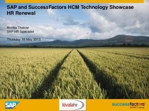 SAP and SuccessFactors HCM Technology Showcase HR Renewal