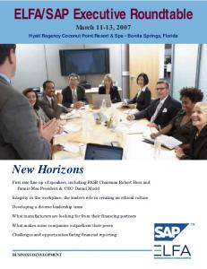 SAP Executive Roundtable