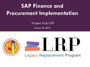 SAP Finance and Procurement Implementation
