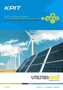 SAP For Utilities Solutions