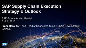 SAP Supply Chain Execution Strategy & Outlook
