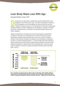 Sarcopenia is an age-related, multifactorial process characterized by the