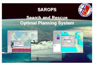 SAROPS Search and Rescue Optimal Planning System