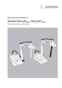 Sartorius Docu-pH Meter, Docu-pH+ Meter