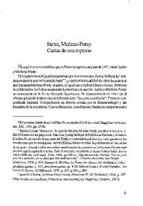 Sartre, Merleau-Ponty: Cartas de una ruptura-