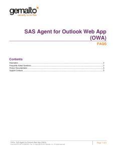SAS Agent for Outlook Web App (OWA)