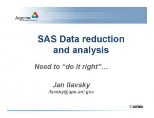 SAS Data reduction and analysis