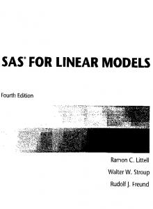 SAS' FOR LINEAR MODELS
