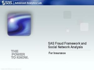 SAS Fraud Framework and Social Network Analysis