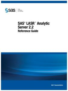 SAS LASR Analytic Server 2.2