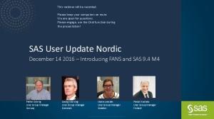 SAS User Update Nordic