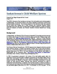 Saskatchewan s Child Welfare System