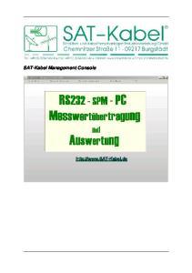 SAT-Kabel Management Console