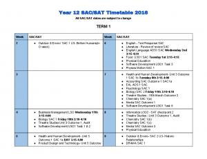 SAT Timetable 2016