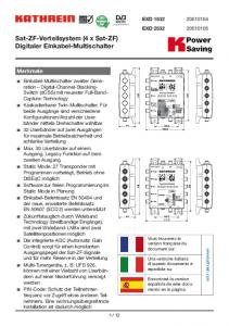 Sat-ZF-Verteilsystem (4 x Sat-ZF) Digitaler Einkabel-Multischalter