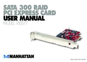 SATA 300 RAID USER MANUAL