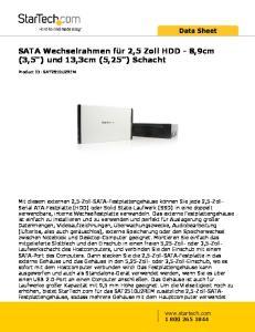 SATA Wechselrahmen für 2,5 Zoll HDD - 8,9cm (3,5