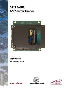 SATA34106 SATA Drive Carrier