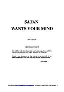 SATAN WANTS YOUR MIND
