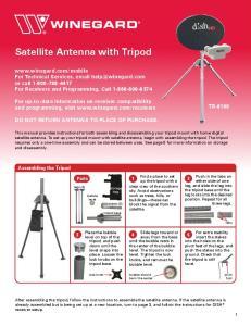 Satellite Antenna with Tripod