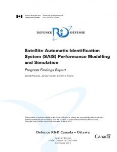 Satellite Automatic Identification System (SAIS) Performance Modelling and Simulation