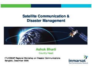 Satellite Communication & Disaster Management